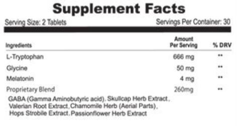 Alteril Sleep Aid Ingredients
