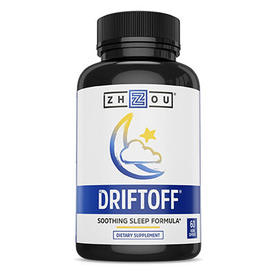 Bottle of Driftoff Premium Sleep Aid