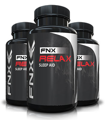 3 bottles of FNX Relax Sleep Aid