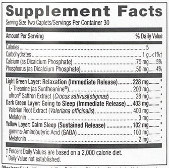 GNC TRI-SLEEP Ingredients