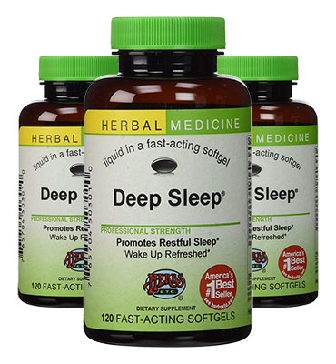 3 bottles of Herbs Etc Deep Sleep