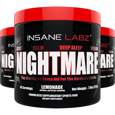 3 Tubs of Insane Labz Nightmare