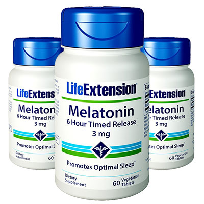 3 bottles of Life Extension Melatonin