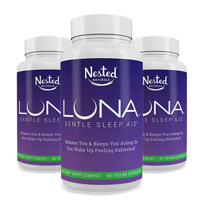 3 bottles of Luna Sleep Aid