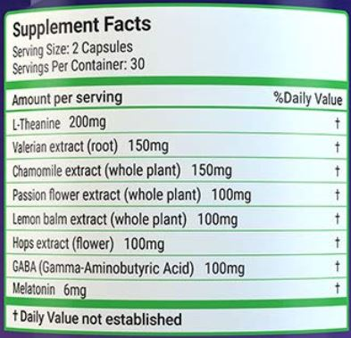 Luna Sleep Aid Ingredients