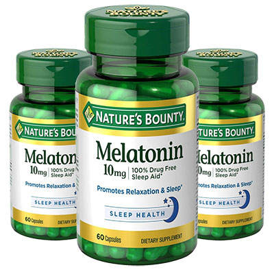 Nature's Bounty Melatonin 3 bottles