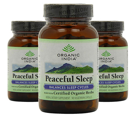 3 Bottles of Organic India Peaceful Sleep