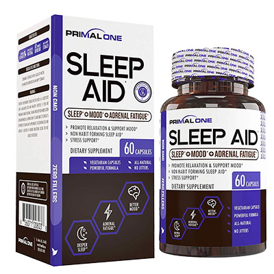 Primal One Sleep Aid (Bottle and Box)