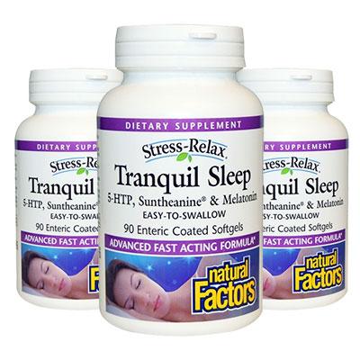 3 bottles of Stress Relax Tranquil Sleep