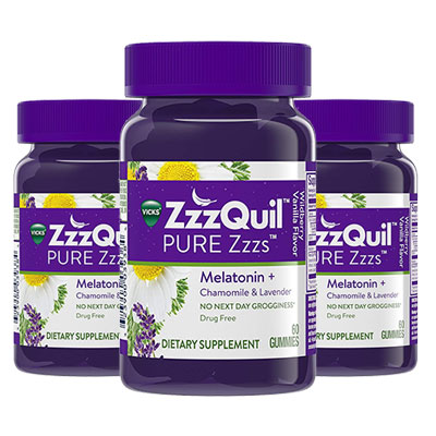 3 bottles of ZzzQuil PURE Zzzs