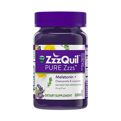 ZzzQuil PURE Zzzs bottle